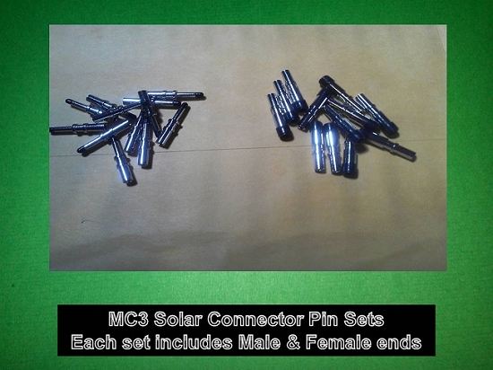 MC3 Solar PV Cable Connector MC3 PINS ONLY 10 Sets - Greener World Store